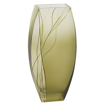 Hand Blown Evergreen Vase Makes a Great Wedding Gift