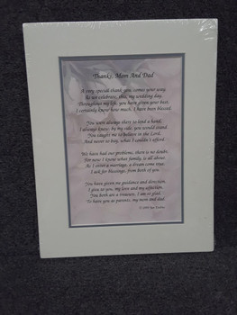 Matted Verse for Mom and Dad Parent wedding day gift