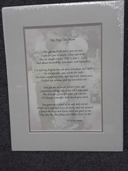 Matted Verse for that special Day Care Provider