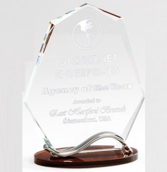 Alumni Award Summit award with wood base