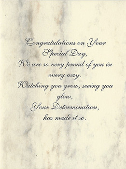 Note Card Congratulations on Your Special Day