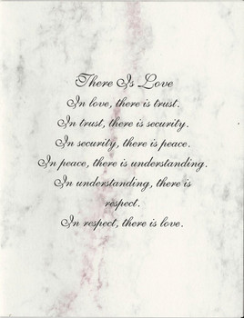 There is Love Note Card Wedding Card
