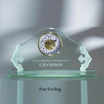 Jade Glass Elite Clock    Mantle Clocks