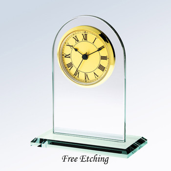 Gold Roman Arch Clock Personalized Wedding or Anniversary Gifts