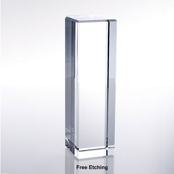 Optic Crystal  Column Award Trophies for Sale