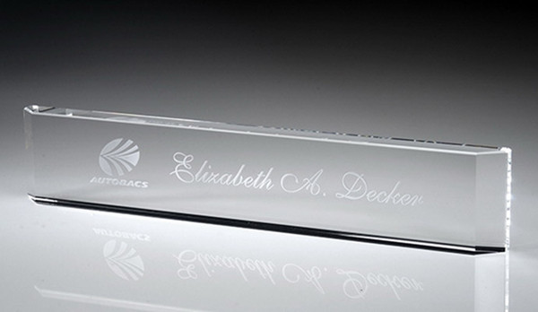 Crystal Name Plates Name Plate for Desk - Personalized Name Plates for Office