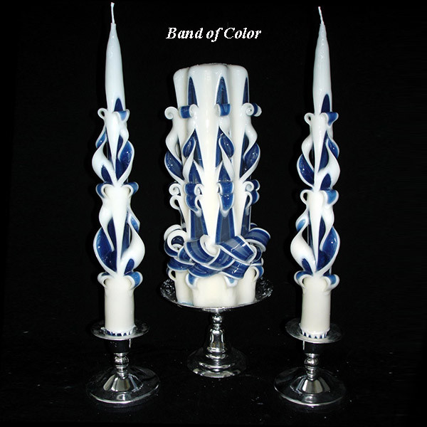 Elegance Star Unity Candle with Color Carved Candles