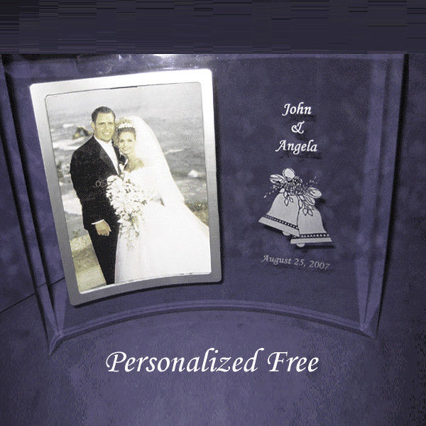 Flat Edge Beveled Picture Frame   Best Anniversary or Wedding Gifts