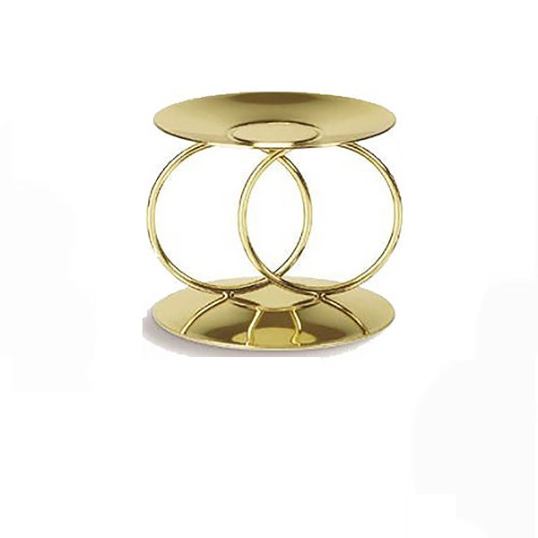 Eternity Rings Unity Candle Holder - gold tone Wedding Candle Holder