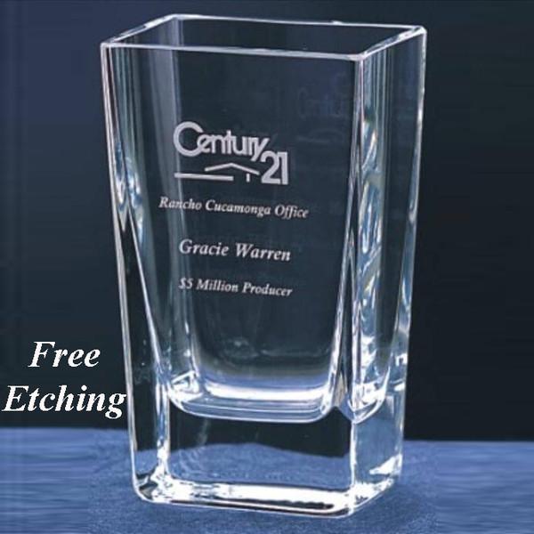 Small Lantana Crystal Vase Wedding Day Gifts