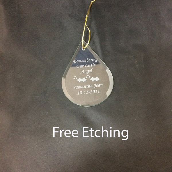 GEFTM120REM Teardrop Ornament In Remembrance Gifts