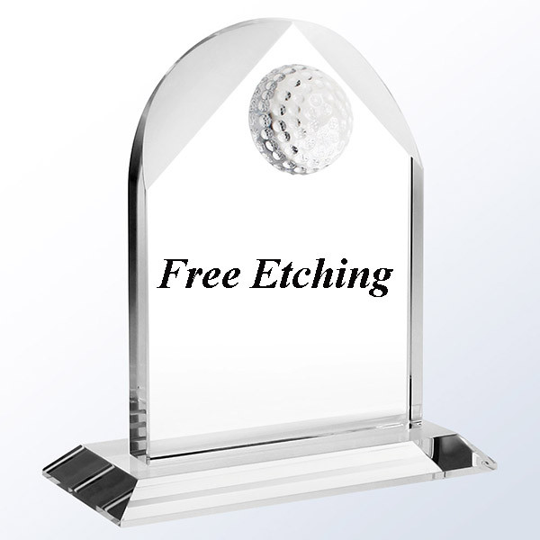 Distinguished Golf Arch Crystal Golf Trophies.