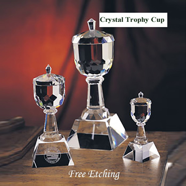 Crystal Golf Trophy Cup Custom Trophies