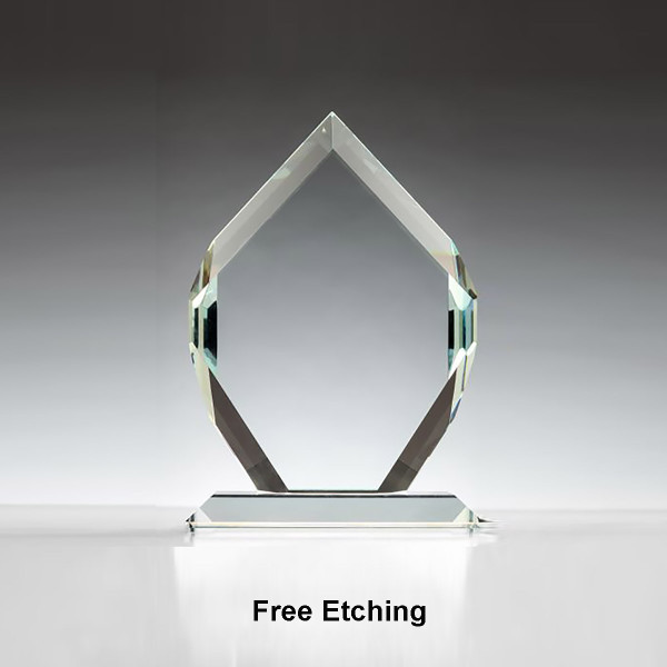 "1/2"" Thick Clear Crown Jewel  Glass Awards"