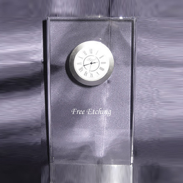 Crystal Illusion Clock Crystal Gifts. Nice Retirement Gift.
