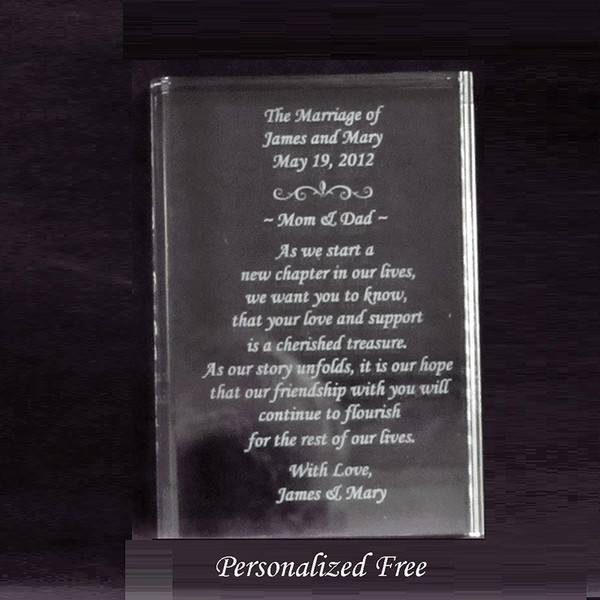 Crystal Book of Love Gift for Couples getting Married