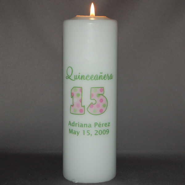 Quinceinera 15th Birthday Candle Birthday Candles