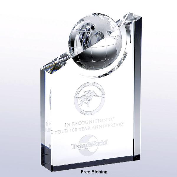 World Globe Pinnacle Crystal Award Service Recognition Awards