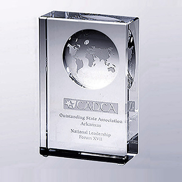 Beveled Globe Award Custom Awards