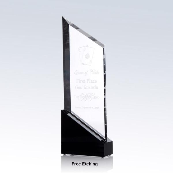 Rising Sail Crystal Award Sailing Trophies