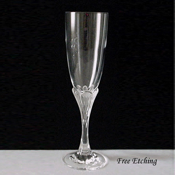 Granville Toasting Flutes Etched Champagne Glasses