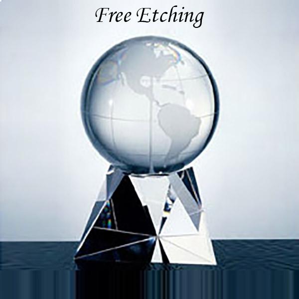 Crystal Latitude Globe on Base World Global Gifts