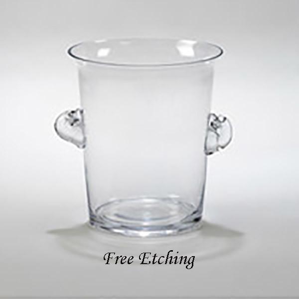 Large Glass Ice Bucket Anniversary Celebration