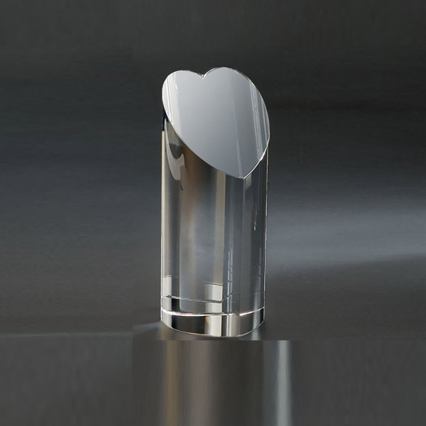 Crystal heart Tower Gift for Cardiologists.