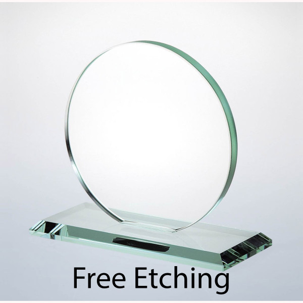 Glass Circle Award Glass Award Plaque