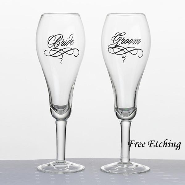 Bride and Groom Glasses Wedding toasting flutes