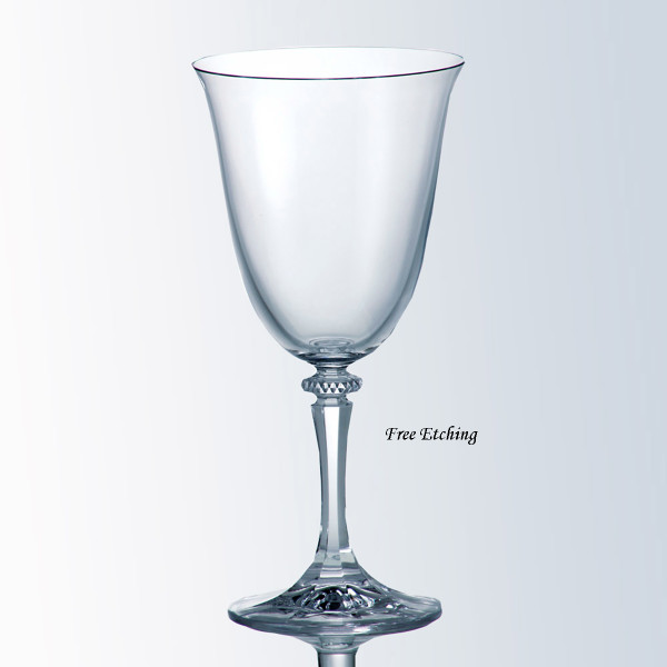 Kleopatra Red Wine Glass Toasting Glasses for Bride and Groom