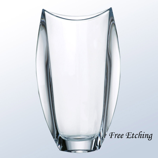 Orbit Crystal Vase Corporate Crystal Gifts