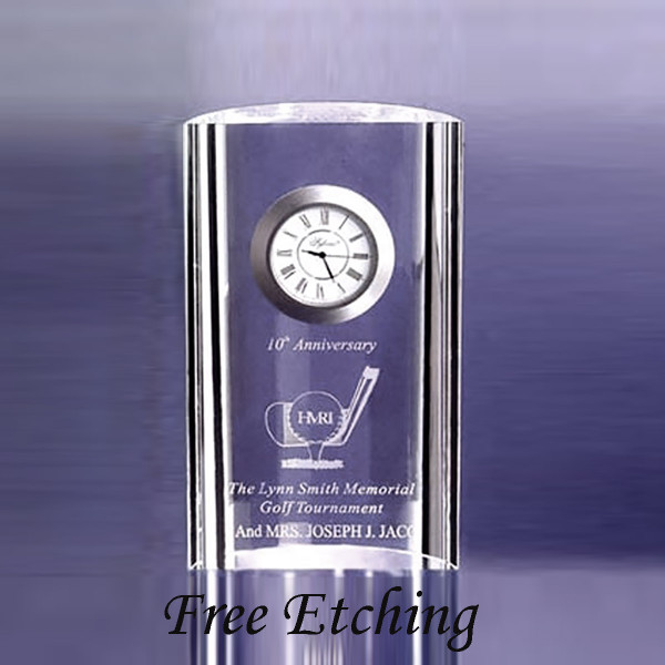 Mirage Crystal Desk Clock    Corporate Employee Gifts