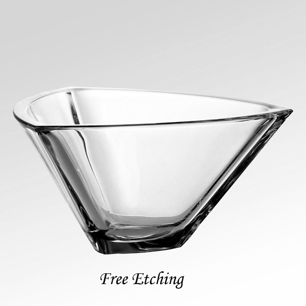 Crystal Triangle Bowl Retirement Gifts