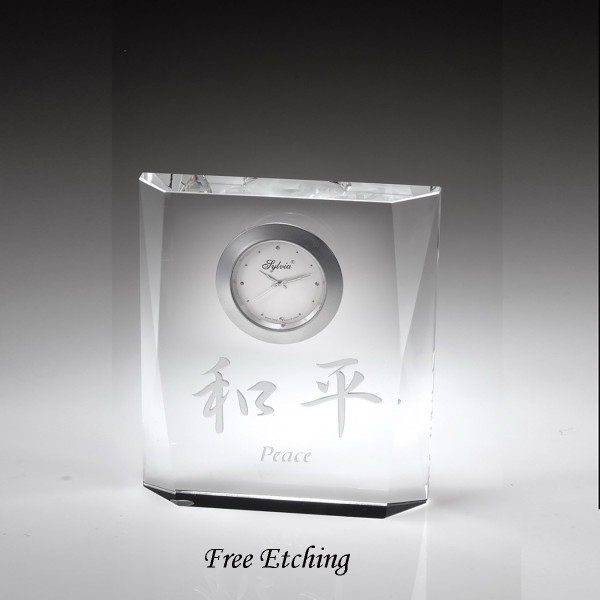 Crystal Desk Clock Makes a great Anniversary Gift.