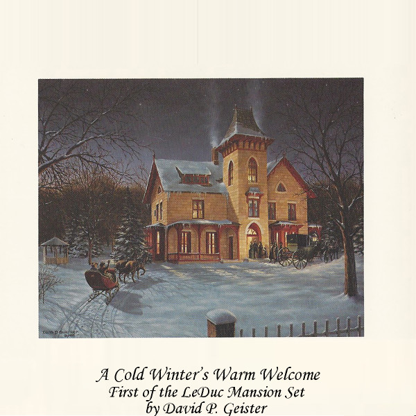 A Cold Winter's Warm Welcome Mansion Prints