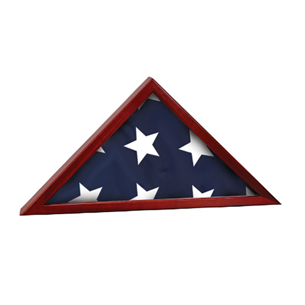 Rosewood Finish  Flag Case Navy Flag Case Memorial or any branch of service.