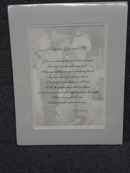 Double Matted Verse for A Gift for a Friend