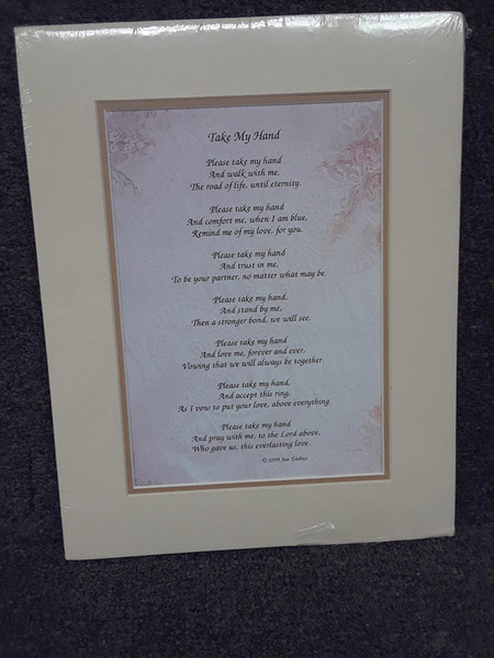 Matted Verse: Take My Hand Perfect Gift for Spouse on Your Wedding day