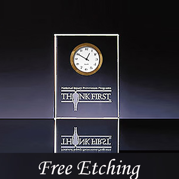 Clear Vertical Essex Clock Corporate Awards