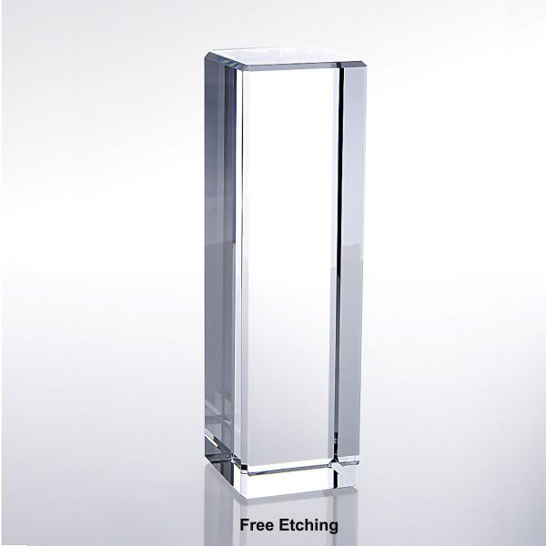Optic Crystal  Column Award Trophies for Sale