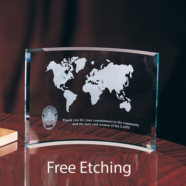 Map etched and your Text below Great Military Award!