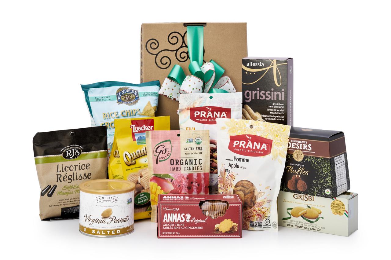 Gourmet gift basket featuring the best international dessert items (chocolate candies crackers  sc 1 st  Green u0026 Green | Gifts With Flair & Dessert Deluxe | Gourmet Gift Baskets