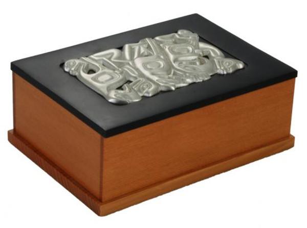 Executive Desk Box - Pewter Inlay