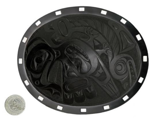 "Eagle/Salmon Plate - 9"" Oval"