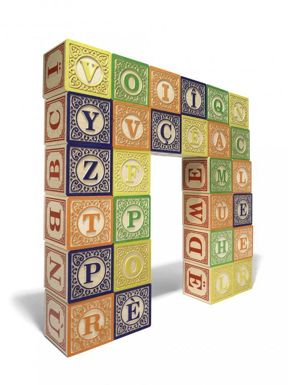 Wooden Blocks - French (32 blocks)