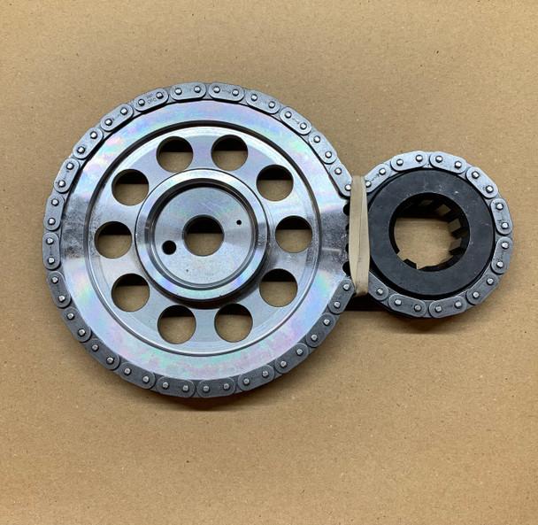 Double-Roller Timing Set -- Billet Steel Cam Gear & 9 Keyway Billet Crank Gear