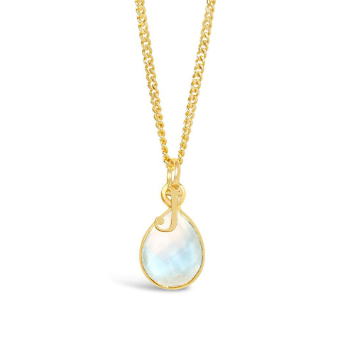 Moonstone Charm Necklace | Gold / June