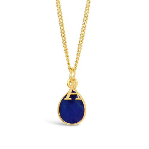 Sapphire Charm Necklace | Gold / September