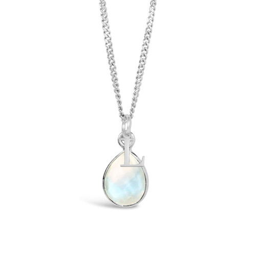Moonstone Charm Necklace | Silver / June